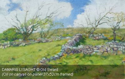 DAMARIS LYSAGHT - Old Sward (Oil on canvas on panel 37x52cm framed)